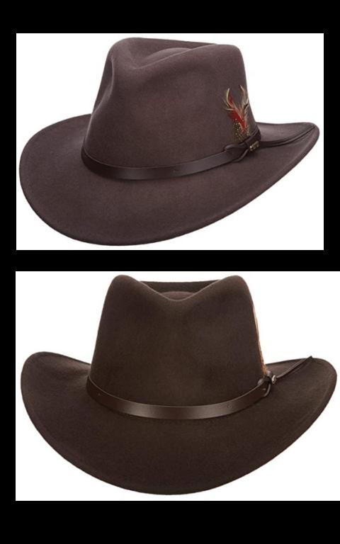 Man's Indiana Jones style hat