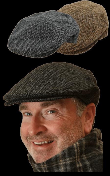 Irish tweet flat cap